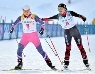 県選抜、歓喜の8位入賞 冬季国体スキー・女子20キロリレー