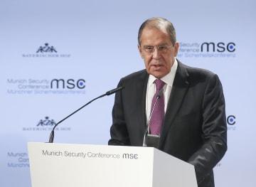 ロシア外相「21世紀は各国が連携し危機の解決を」 ミュンヘン安全保障会議