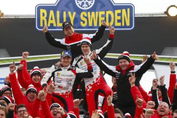 WRC 第2戦 ラリー・スウェーデン デイ4 タナックが今季初優勝でドライバー選手権をリード チームもマニュファクチャラー選手権首位に立つ