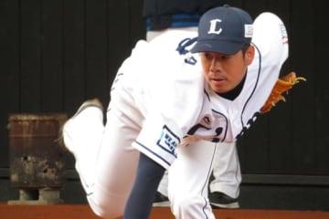 開幕投手に抜擢された西武・多和田真三郎【写真:岩国誠】