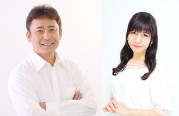 テレビアニメ「MIX」に声優として出演する高木渉さん(左)と井上喜久子さん