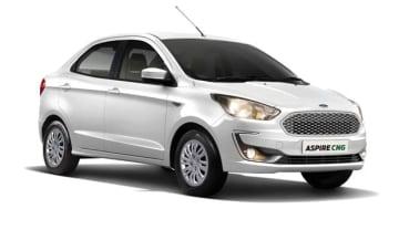 フォードが発売した「アスパイア」のCNG対応モデル(同社提供)