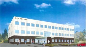 芳賀中央病院の完成予想図