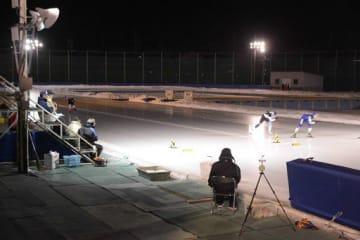 今月末に営業終了する長根公園スケートリンク=18日、八戸市