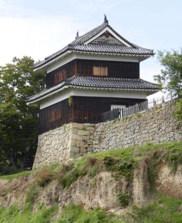 現存する上田城の櫓=長野県上田市(市教育委員会提供)
