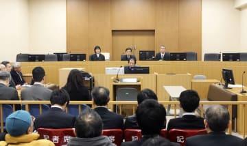 津谷裕貴さんの刺殺を巡る訴訟の控訴審判決が言い渡された仙台高裁秋田支部の法廷=13日