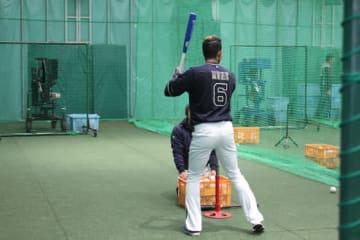 打撃練習に取り組むオリックス・宗佑磨【写真:橋本健吾】