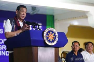 フィリピンのドゥテルテ大統領(写真はフィリピン大統領府のウェブサイトから)
