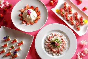 春薫る「いちごと桜」のスイーツフェアがシェラトン都ホテル大阪で開催
