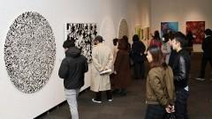 木梨憲武さん個展、岡山で開幕