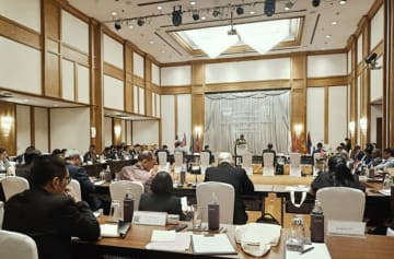 SGRA政労使代表者会議の様子=17日、バンコク(NNA撮影)