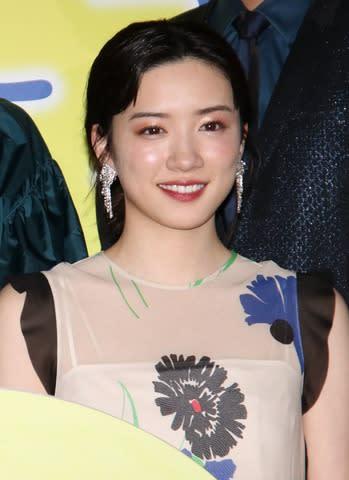 映画「君は月夜に光り輝く」完成披露舞台あいさつに登場した永野芽郁さん