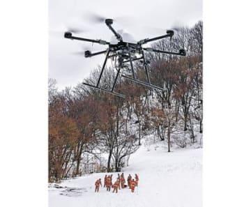 ドローンで雪山を捜索 金沢市消防局、初の訓練