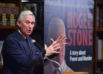 Roger J. Stone Jr. discusses and signs copies of his book 'The Man Who Killed Kennedy: The Case Against LBJ' at Books and Books (Credit: Johnny Louis/WENN.com)