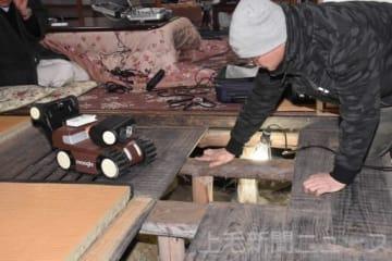 県内で初めてロボットを使用して行われた床下診断