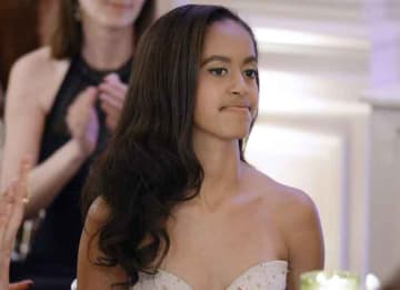 WASHINGTON, DC - MARCH 10: Malia Obama attends a State Dinner at the White House March 10, 2016 in Washington, D.C. Hosted by President and First Lady Obama, the dinner is in honor of Prime Minister Justin Trudeau and First Lady Sophie Gregoire...
