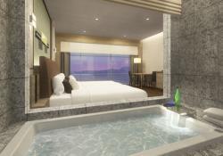 琵琶湖の眺望を楽しみながら入浴できる客室「VISTA」のイメージ図