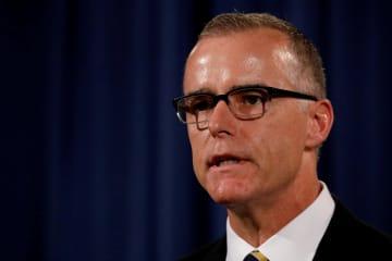 米連邦捜査局(FBI)のマケイブ前副長官=2017年7月、ワシントン(ロイター=共同)