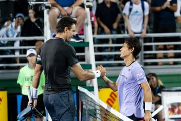 復帰戦勝利のデル ポトロ。西岡との対戦は「タフな1回戦だった」[ATP250 デルレイビーチ]