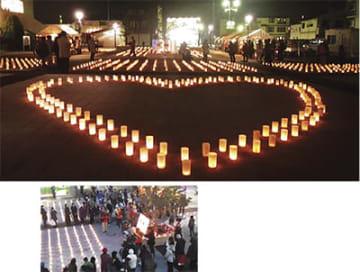 東日本大震災を忘れないー。寒川キャンドルプロジェクト@寒川駅前公園