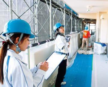 マンション修繕の富士防(森崎) 「女性目線」で現場をチェック 環境パトロール、なでしこブランド...