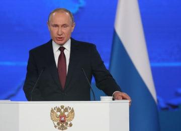 露・プーチン大統領が年次演説 平和条約締結へ模索