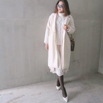 透け感が春っぽい♥ きれいめなレースのスカートで冬コーデのマンネリ解消コーデ8選♪