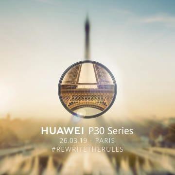 Huawei、5倍光学ズーム可能なスマホ「P30シリーズ」を3月26日に発表へ