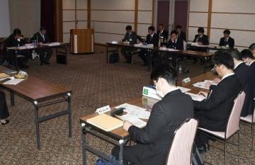 避難訓練や防災教育などモデル地域での取り組みが報告された学校防災教育推進委員会