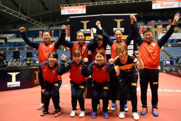 【卓球・Tリーグ】名古屋、ニッペMとの直接対決を制す! 3位の座まであと一歩