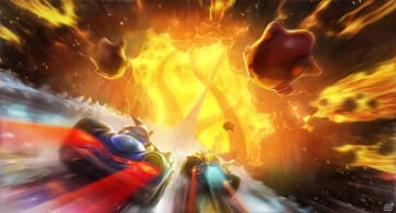 「チームソニックレーシング」新コース「Hidden Volcano」を紹介!氷塊と溶岩石による複雑な地形を攻略しよう
