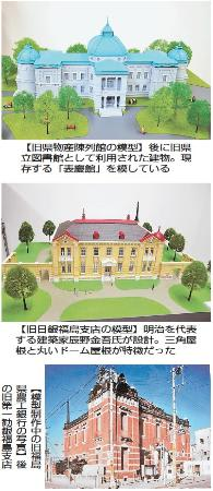 よみがえる福島市の街並み 歴史的建造物の模型制作