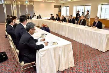 働き方改革推進へ協調 県内労使首脳懇、納得の結論めざす