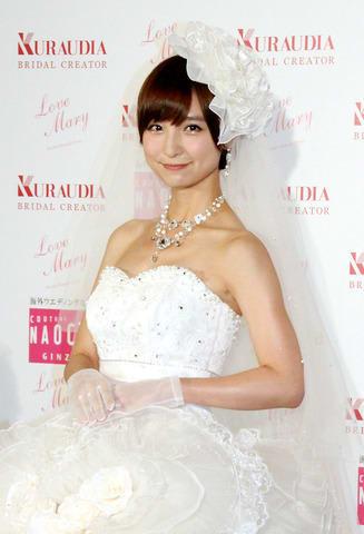結婚を発表した篠田麻里子さん