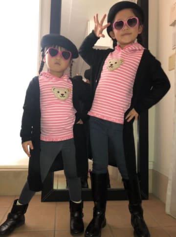 魔裟斗、娘たちのお揃いファッションを公開「お洒落さん」「可愛すぎるっ!」の声