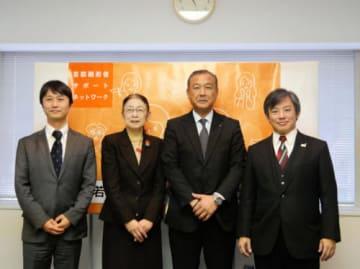 山九/チャリティ自販機5台を本社ビルに導入