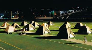 「親子ふれあい防災キャンプ」現役自衛官の防災講義や炊事車で作るカレーも@富士通スタジアム