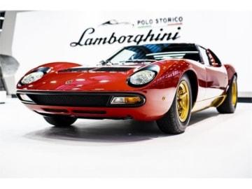 出展されたランボルギーニ・ミウラ。(画像: Automobili Lamborghiniの発表資料より)