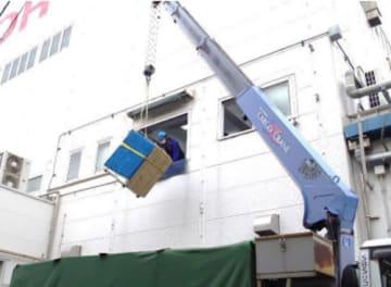 SBSリコーロジ/クレーン車両用い、自社施設で社内技術研修を開催