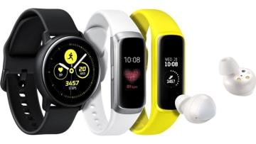 サムスン、Galaxy Watch Active、Galaxy Fitを発表