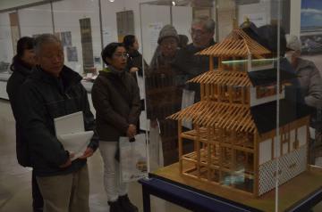 天守閣代わりだった三階櫓の模型。内部は5階建てだった=水戸市大町