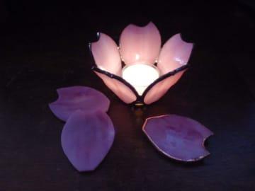 おしゃれな桜の雑貨「桜のキャンドルホルダー」