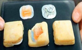 イノシシの豚コレラ対策に使われるワクチン入りの餌(Meiji Seikaファルマ・農水省提供)