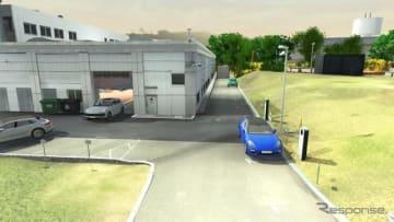 ポルシェが整備工場で行う自動運転テストのイメージ
