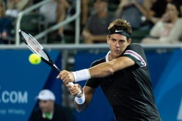デル ポトロ 盤石のプレーでベスト8入り。前週ツアー初優勝の若手にストレート勝利[ATP250 デルレイビーチ]