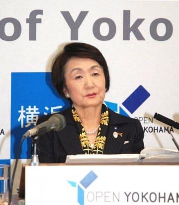 横浜市の林文子市長(資料写真)
