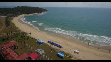 全国ユースゲームズのサーフィン競技、海南省万寧で開催