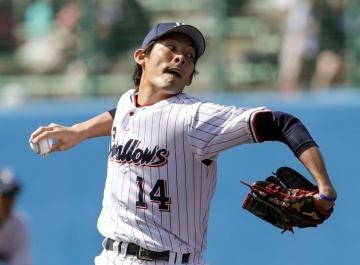 阪神戦で、3回無失点と好投したヤクルト・高梨=浦添