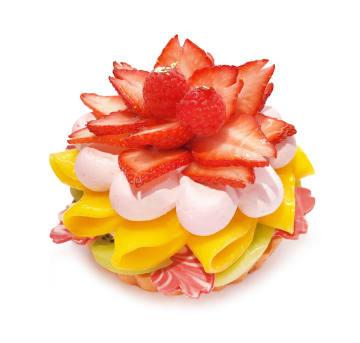 カラフルなフルーツでひし餅をイメージ!ひな祭り限定ケーキ【カフェコムサ】