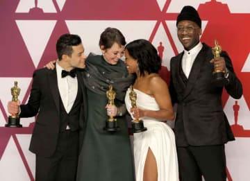 Oscar winners Mahershala Ali, Olivia Colman, Rami Malek, Regina King